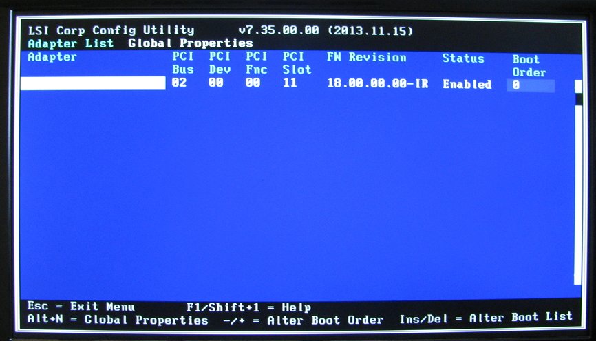 flashing the LSI 9211-8I