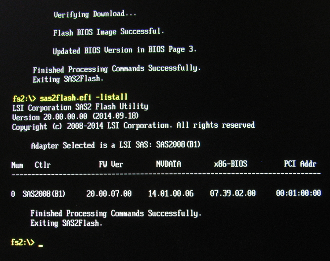 Flashing a LSI 9211-8I with the EFI shell